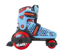 SFR STOMPER Adjustable Quad Roller Skates - Blue